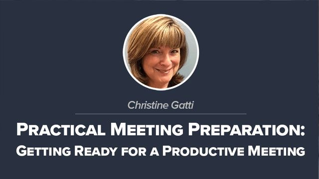Practical Meeting Preparation: Getting Ready for a Productive Meeting