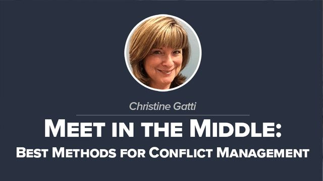 Meet in the Middle: Best Methods for Conflict Management