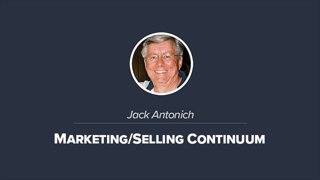 Marketing/Selling Continuum (From Idea to Revenue)