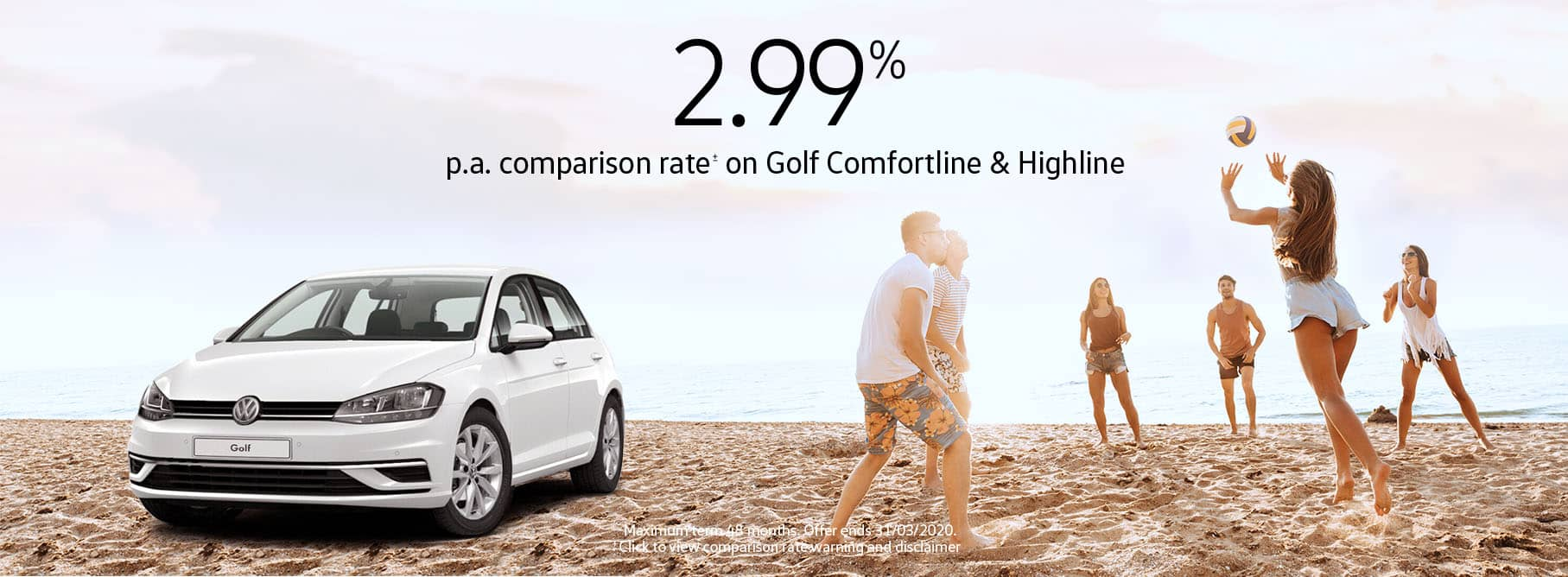 2.99 Comparison Rate for Golf Comfortline