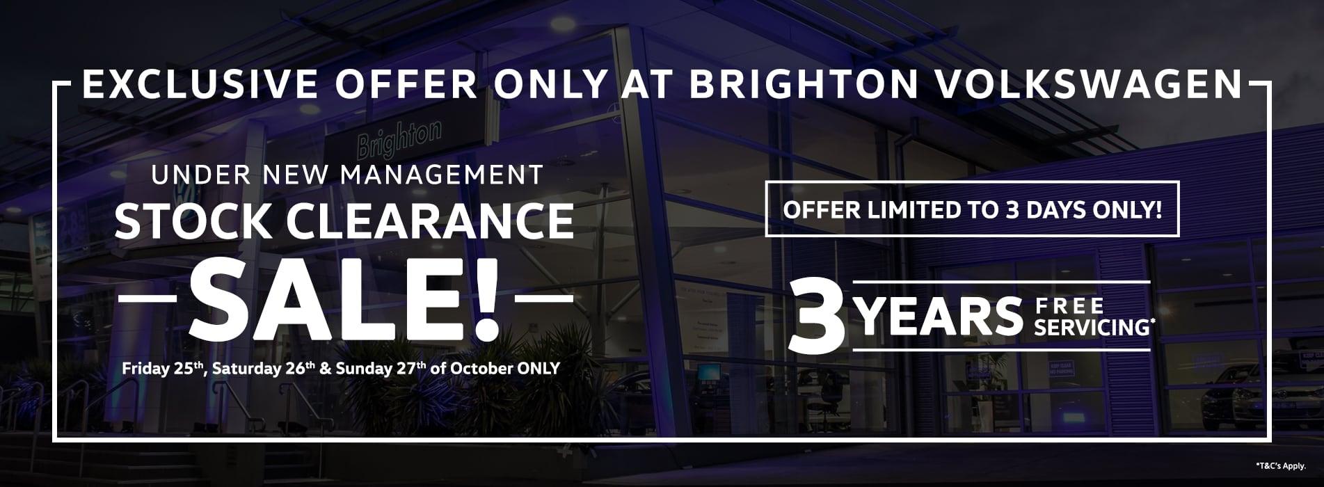 Under New Management Sale!