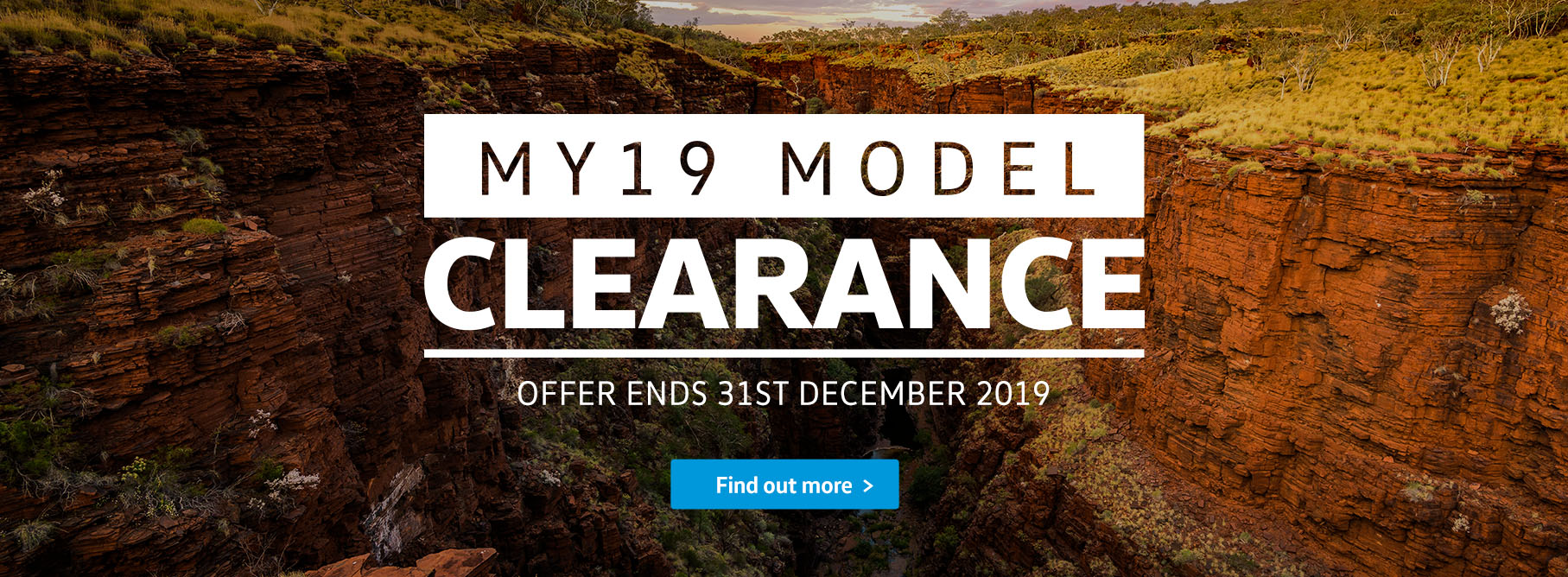 MY19 Model Clearance Commercial