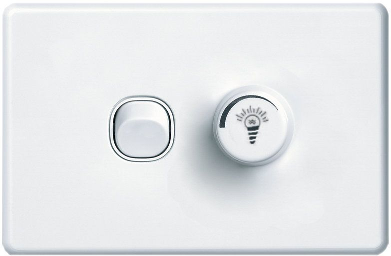 Light switch with dimmer