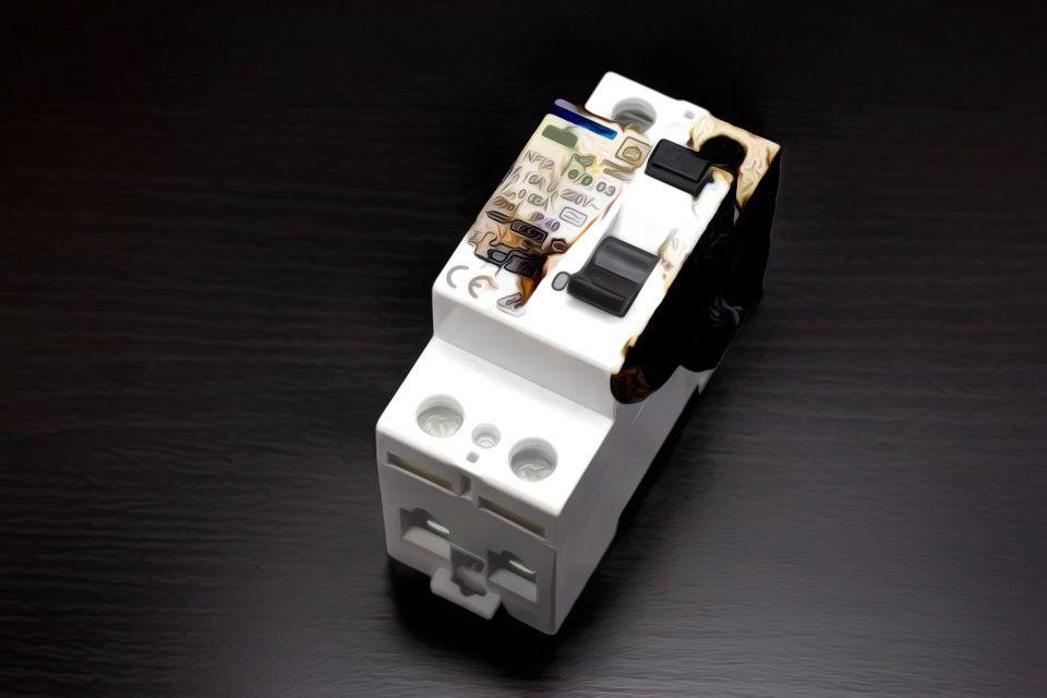 Burnt Circuit Breaker