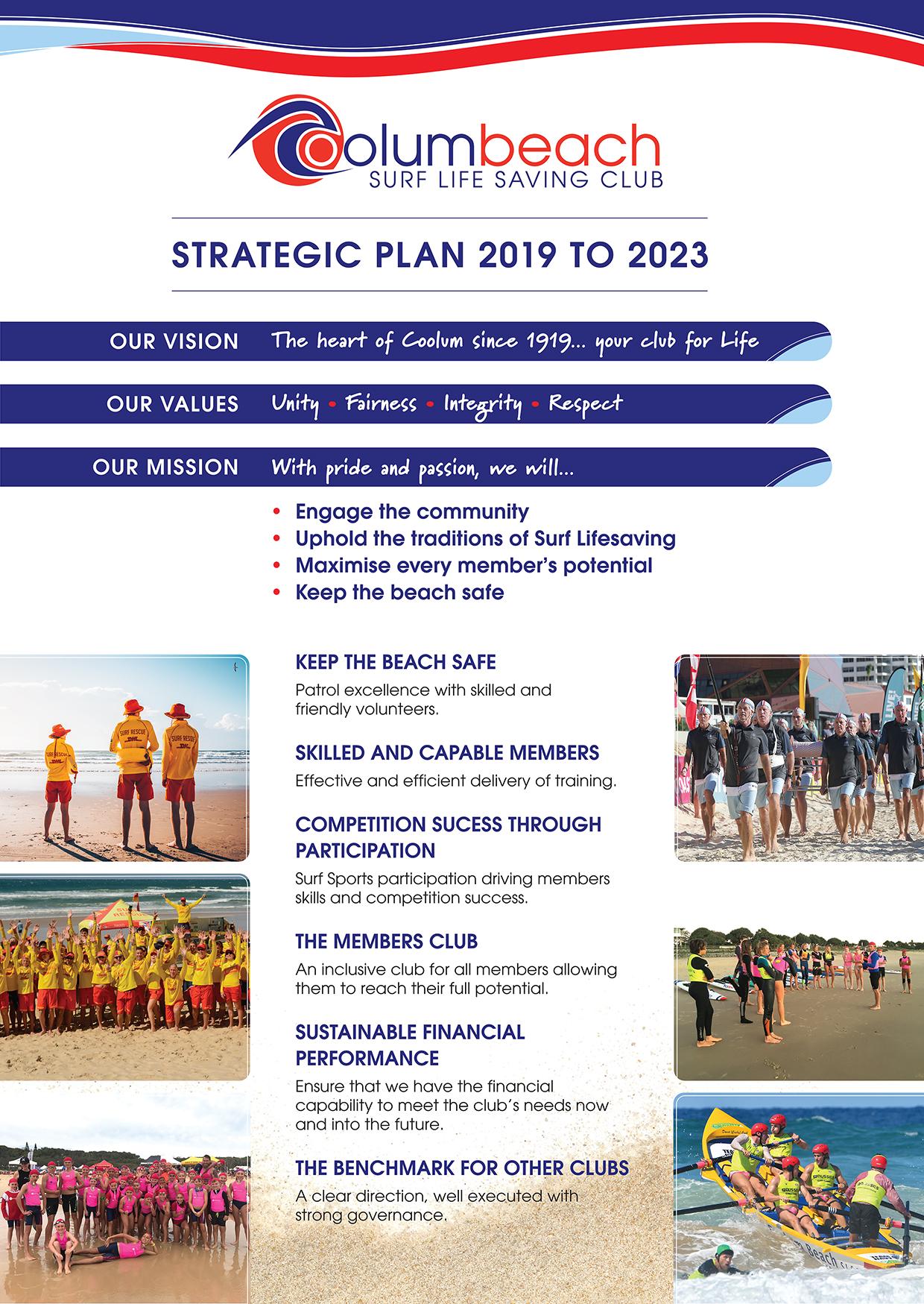 Coolum SLSC Strategic Plan 2019 to 2023